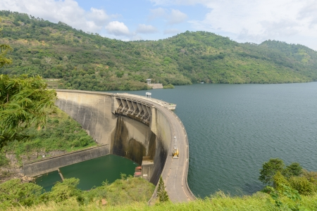 Sri Lanka. Hydroelectric power plant on the lake.