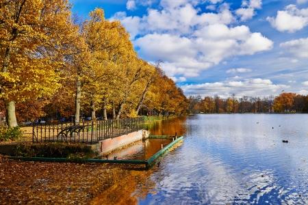 City Park Peterhof. Golden Autumn.