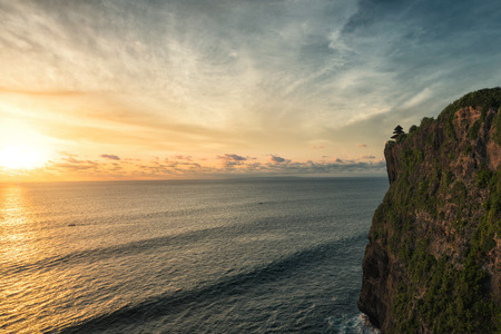 Beautiful Sunset at Uluwatu temple, Bali Indonesia