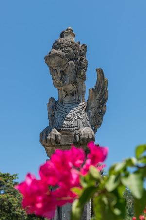 Stutue in Water Garden, Karangasem, Bali, Indonesia Stock Photo