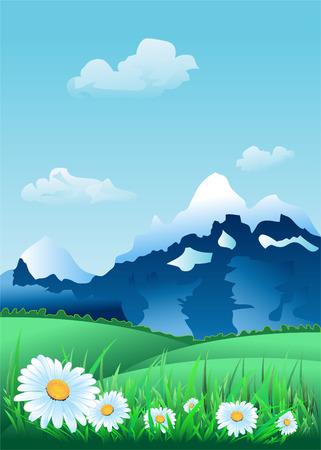 Alpine Landscape Stock Vector - 4511763