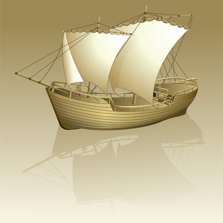 ship storm: Old ship