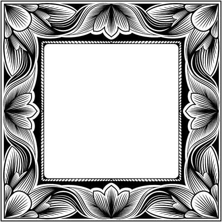 Vintage square frame Vector
