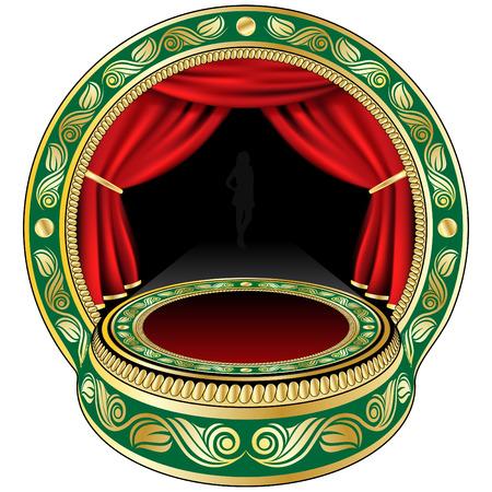 Small theatre stage Stock Vector - 4664264