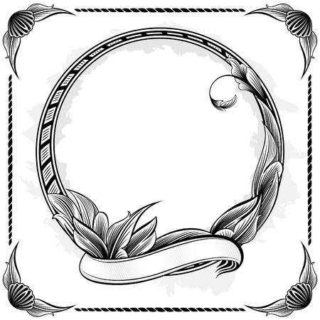 Vintage circle frame Stock Vector - 4676447