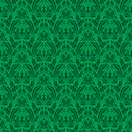 Green seamless wallpaper Stock Vector - 4755744