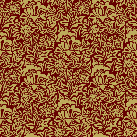 Gold seamless wallpaper Stock Vector - 4795937