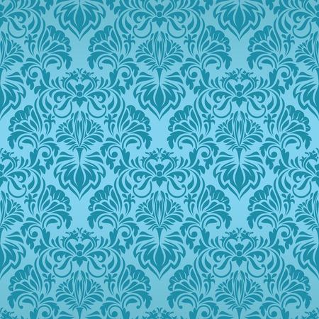 Turquoise naadloze behang Vector Illustratie