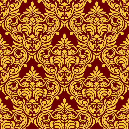Red-yellow Seamless Wallpaper Vector