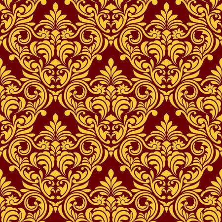 western pattern: Red-yellow Seamless Wallpaper
