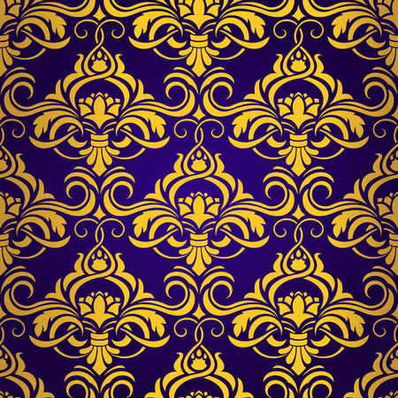 gold leafs: Seamless wallpaper