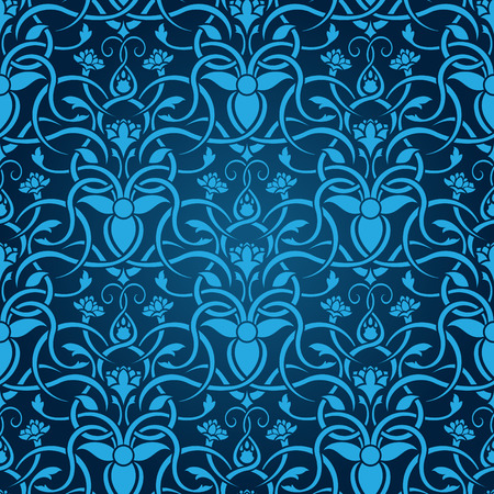 Blue seamless wallpaper Stock Vector - 5017235
