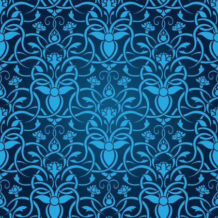Blue seamless wallpaper Stock Vector - 5017235