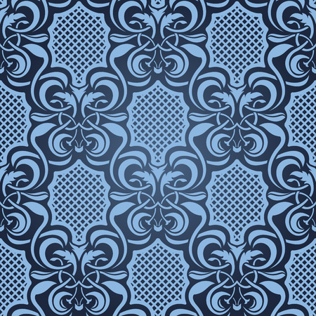 Blue seamless wallpaper Stock Vector - 5044481