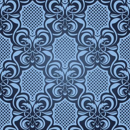 Blue seamless wallpaper Stock Vector - 5044481