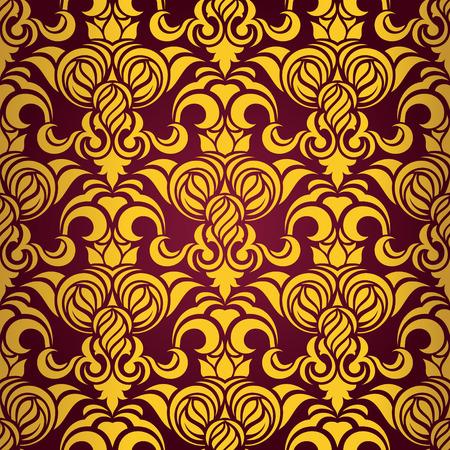 Red seamless wallpaper Stock Vector - 5083646