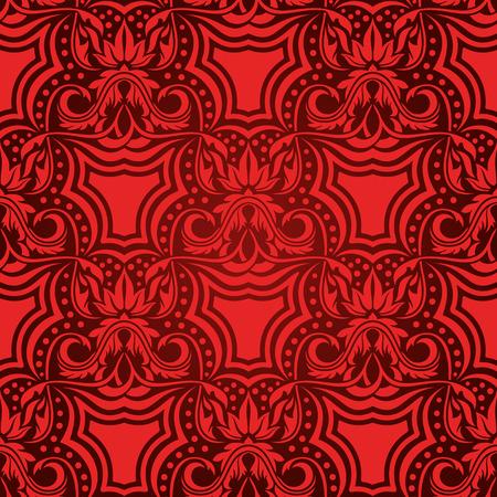 Red seamless wallpaper Stock Vector - 5162957