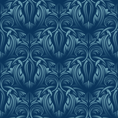 Blue seamless wallpaper Stock Vector - 5358210