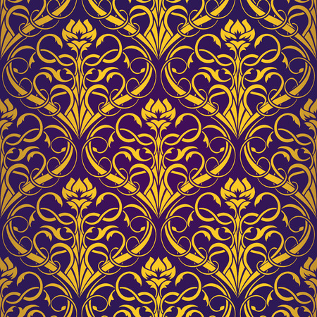 Violet Seamless wallpaper Stock Vector - 5358209