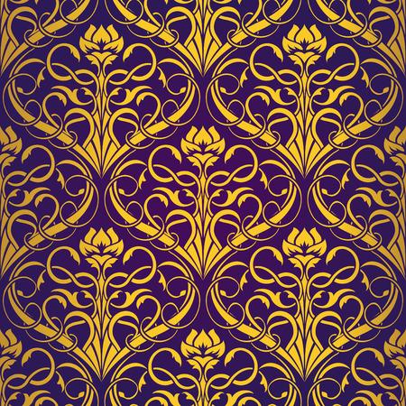Violet Seamless wallpaper Stock Vector - 5358209
