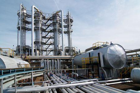 industria petroquimica: industria de procesamiento de gas