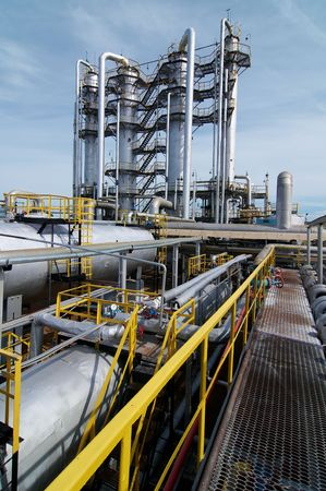 petrochemical plant: gas processing industry