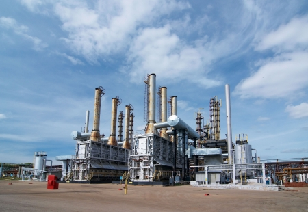 oil refinery: Gas industry Stock Photo