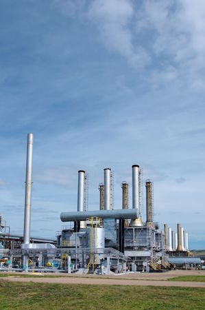 power plants: Gas industry Stock Photo