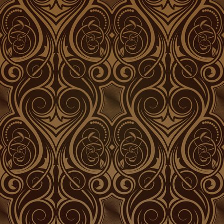drapes: Brown seamless wallpaper Illustration