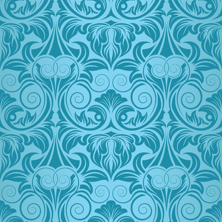 Turquoise seamless wallpaper Stock Vector - 5701569
