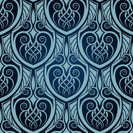 Blue seamless wallpaper Stock Vector - 5789451
