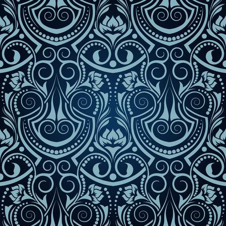 Blue seamless wallpaper Stock Vector - 5797350