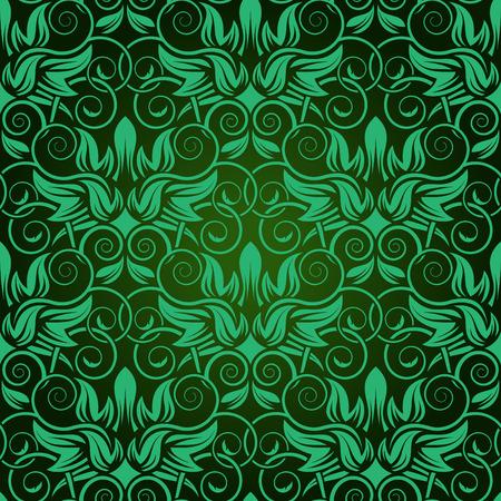 Green seamless wallpaper Vector