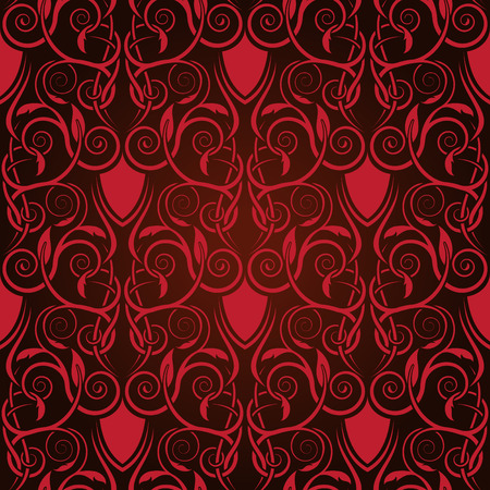 Red seamless wallpaper Stock Vector - 5820203