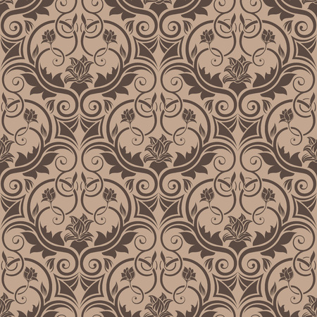 Brown seamless wallpaper Vector
