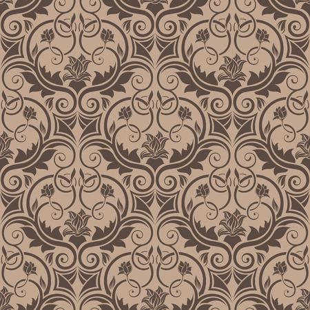 Brown seamless wallpaper Stock Vector - 5873943