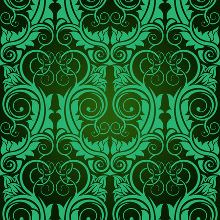 Green seamless wallpaper Stock Vector - 5873942