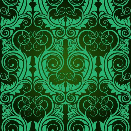 Green seamless wallpaper Stock Vector - 5873942