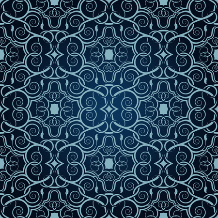 Blue seamless wallpaper Vector