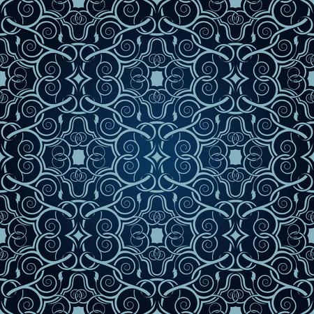 Blue seamless wallpaper Stock Vector - 5873945