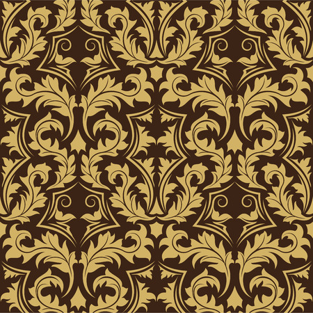 Brown seamless wallpaper Vector