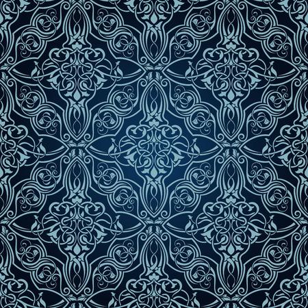 Blue seamless wallpaper Vector