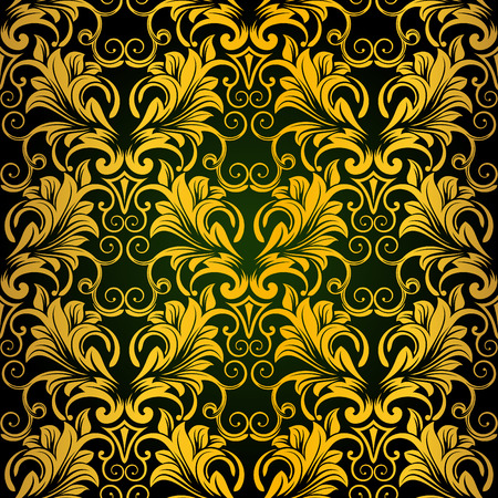 Gold seamless wallpaper Stock Vector - 6209349