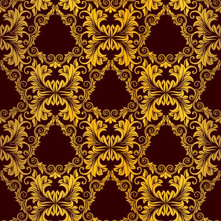 weaves: Gold seamless wallpaper Illustration