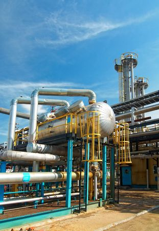 gas plant: Gas industry. sulfur-refinement Stock Photo