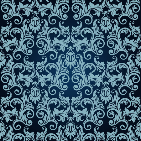 Blue seamless wallpaper Stock Vector - 6338146