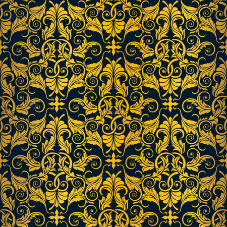Gold seamless wallpaper Stock Vector - 6338136