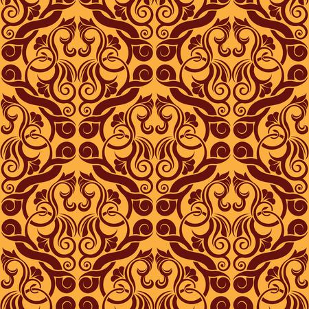 Orange seamless wallpaper Stock Vector - 6338131