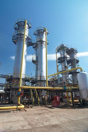 distillation: industria de procesamiento de gas