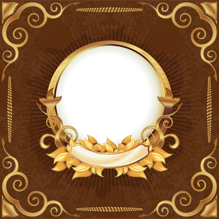 Gold vintage frame Stock Vector - 6390809
